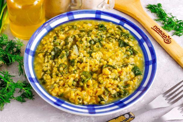 Рагу из чечевицы со шпинатом