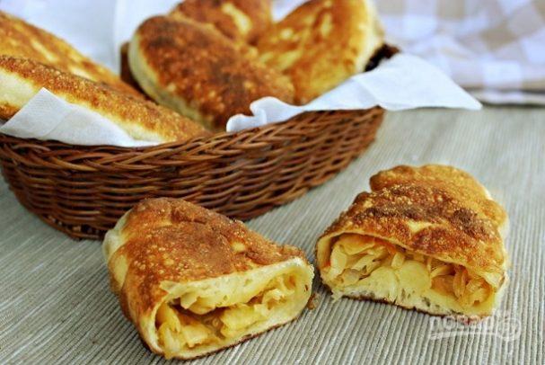 Пирожки с капустой жареные