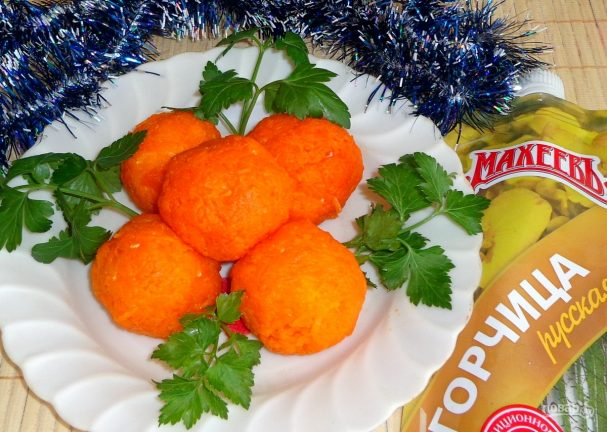 Закусочные сырные шарики с горчицей