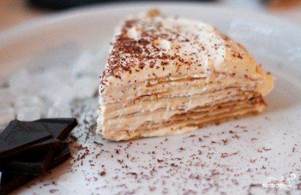 Блинный торт с кремом из сгущенки