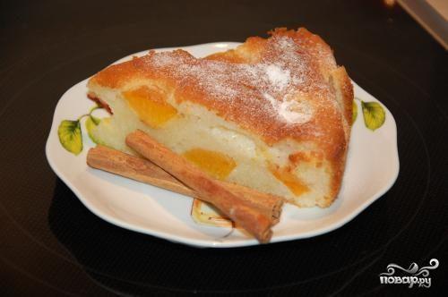 Абрикосовый пирог по-быстрому