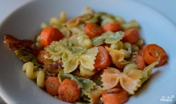 Паста с морковью