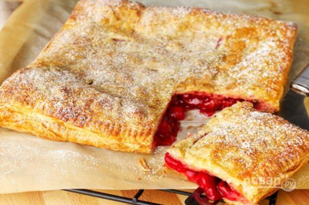 Простой рецепт пирога с вишней