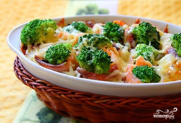 Брокколи с креветками - рецепт с фото на