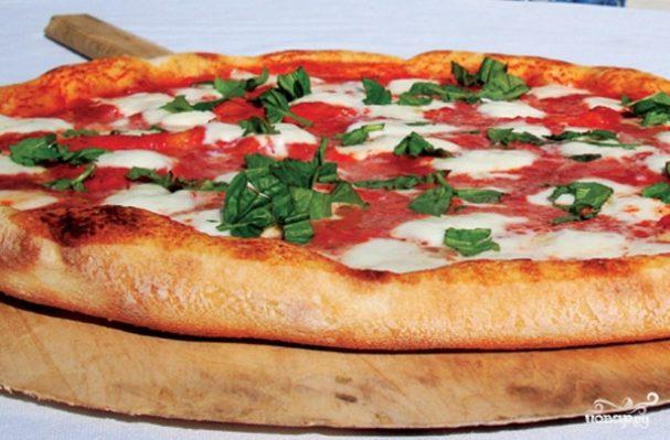 Пицца с курицей в мультиварке