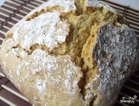 Бездрожжевой хлеб в хлебопечке простой
