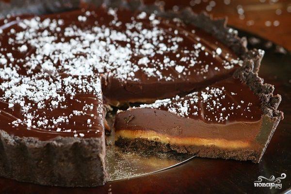 торт с шоколадом и карамелью рецепт
