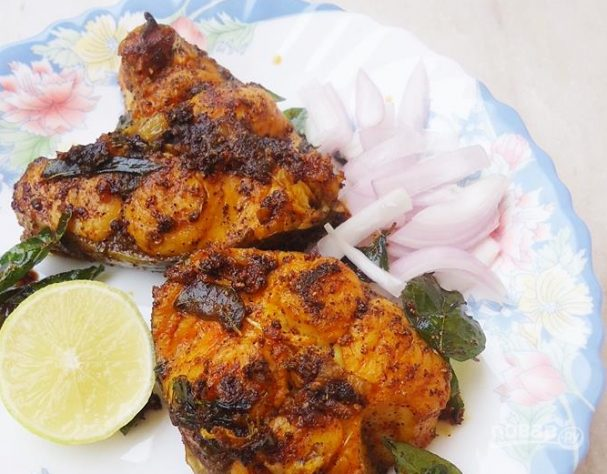 Жареная рыба в индийском стиле