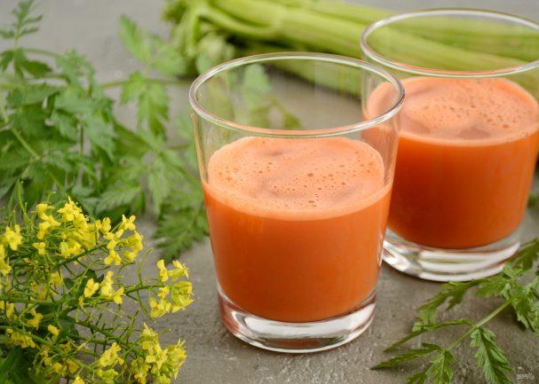 Сок из сельдерея и моркови