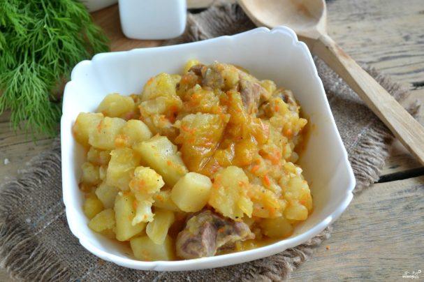 Цветная капуста с мясом и картошкой