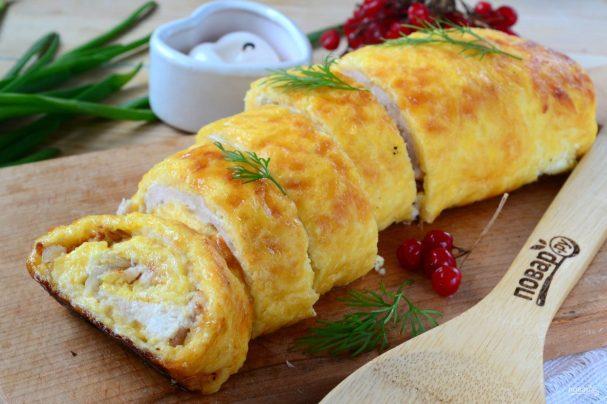 рецепт куриного рулета детям на завтрак