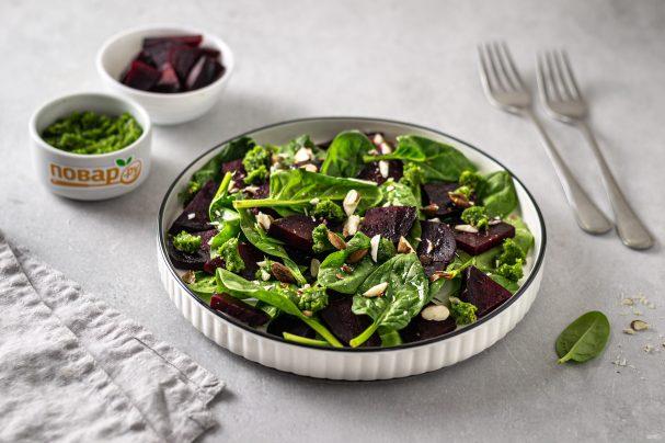Постный салат из свеклы