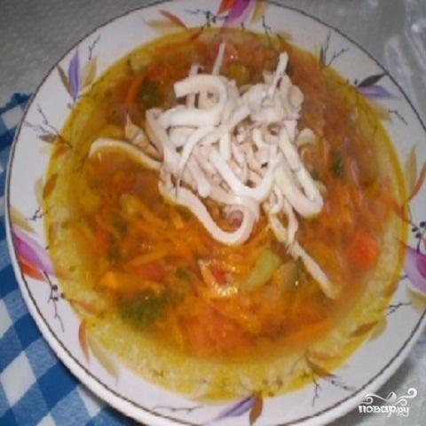 Итальянский суп с кальмарами