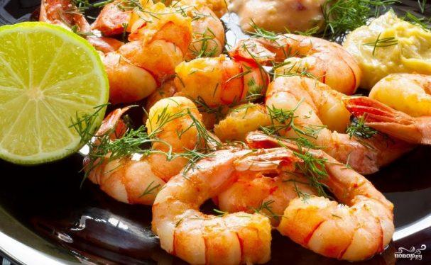 Жареные креветки с соевым соусом рецепт с фото пошагово 1