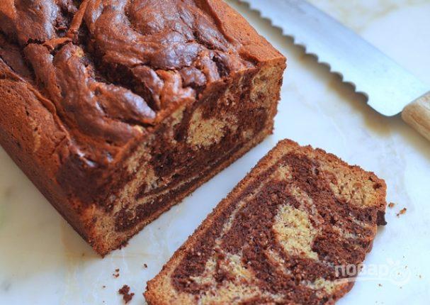 Шоколадный хлеб с бананом