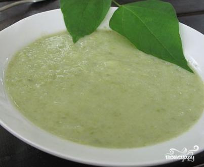Суп-пюре из зеленой фасоли