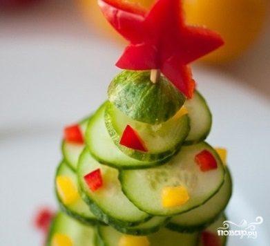 Елочка из овощей