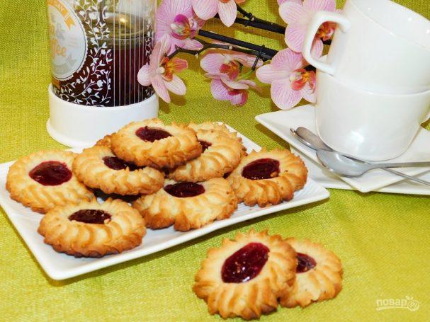 Песочное печенье с конфитюром