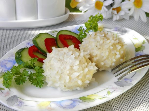 Ёжики из фарша с рисом