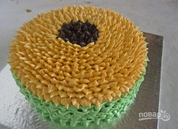"""Торт """"Подсолнух"""""""