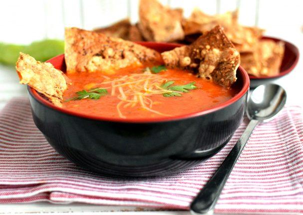 """Томатный суп с тушеным перцем """"Мексиканский тушкан"""""""