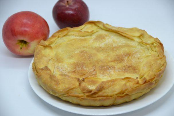 """Яблочный пирог """"Вуаль невесты"""""""