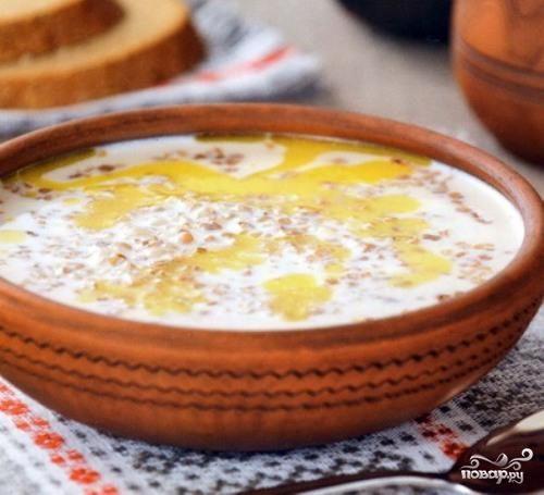 Молочный суп с гречкой