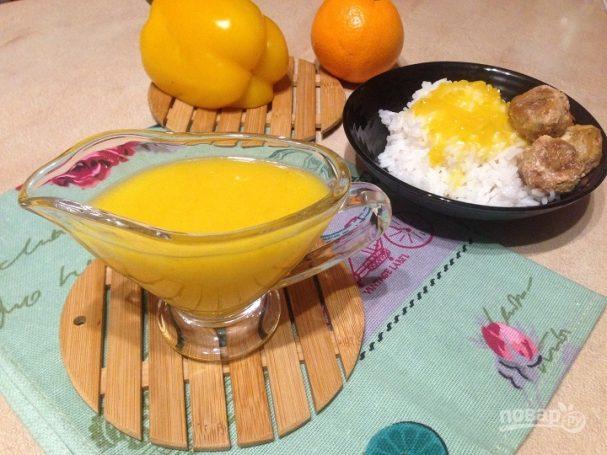 Апельсиновый соус с болгарским перцем