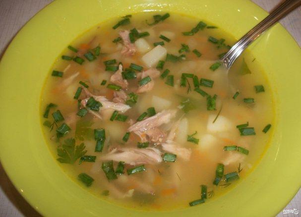 Суп на свиной косточке