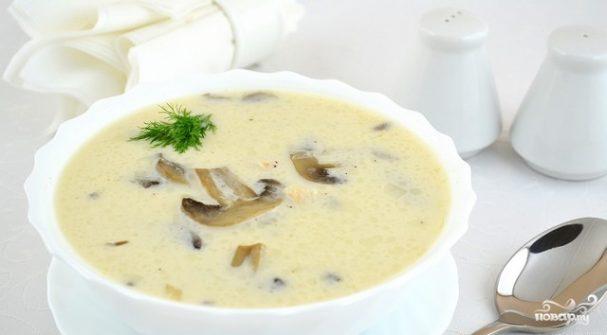 Суп из шампиньонов в мультиварке