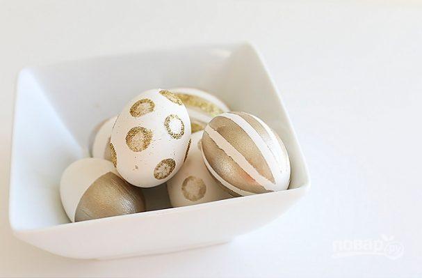 Яйца пасхальные золотые