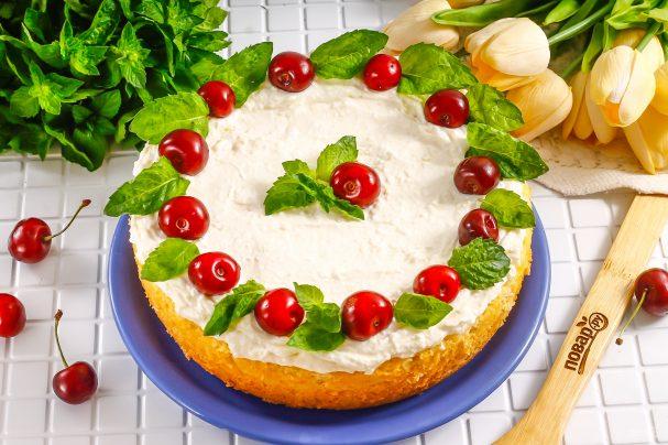 ПП торт с творожным кремом