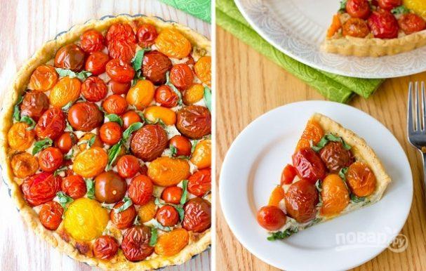 Тарт с сыром и томатами