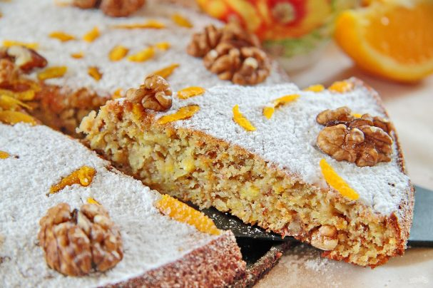 Апельсиновый пирог с орехами - пошаговый рецепт с фото на Повар.ру