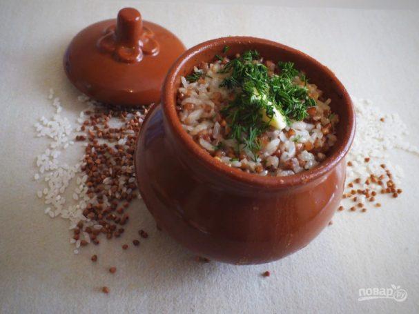 Гречнево-рисовая каша
