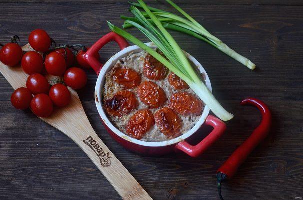 Кабачки в духовке с фаршем и помидорами