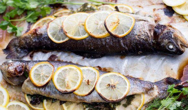 Рыба с лимоном в духовке