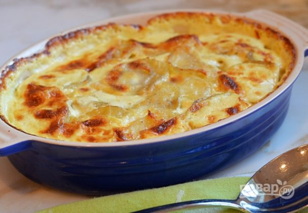 Картофель со сливками в духовке