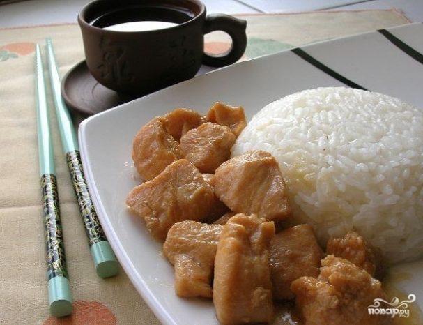Курица по-китайски с рисом
