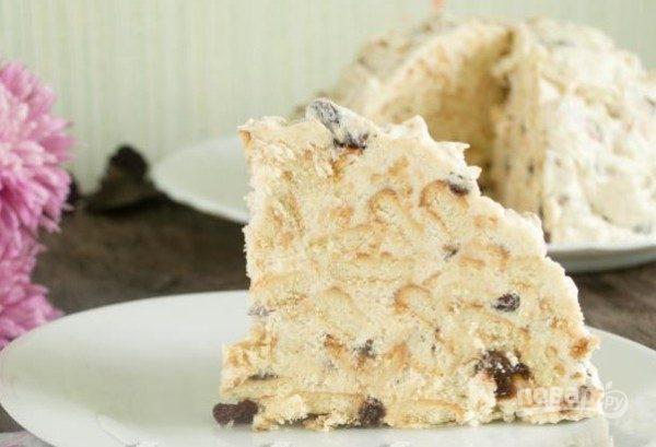 Торт из печенья и сгущенки