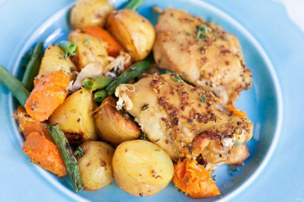 Жареная курица с картошкой в мультиварке