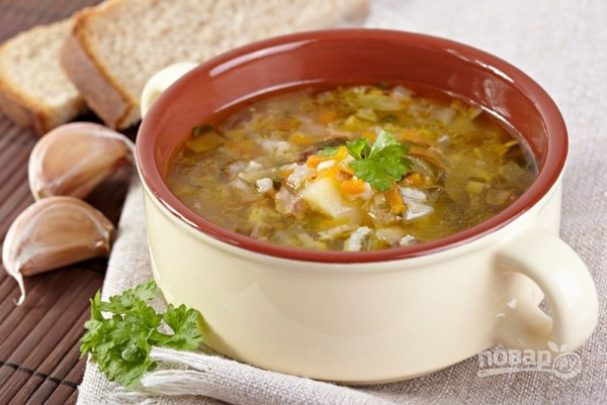 """Суп """"Рассольник"""" с рисом"""