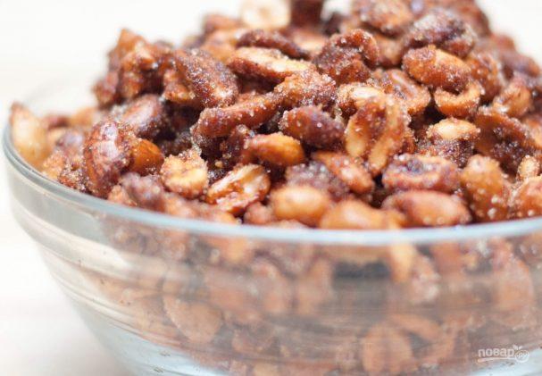 Жареный арахис с медом и солью