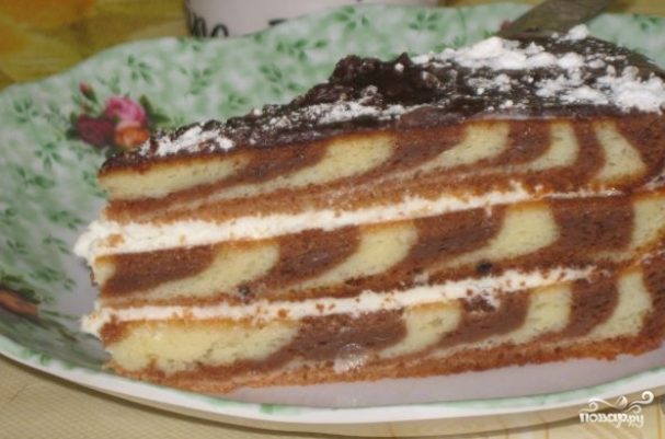 "Торт ""Зебра"" (классический рецепт)"