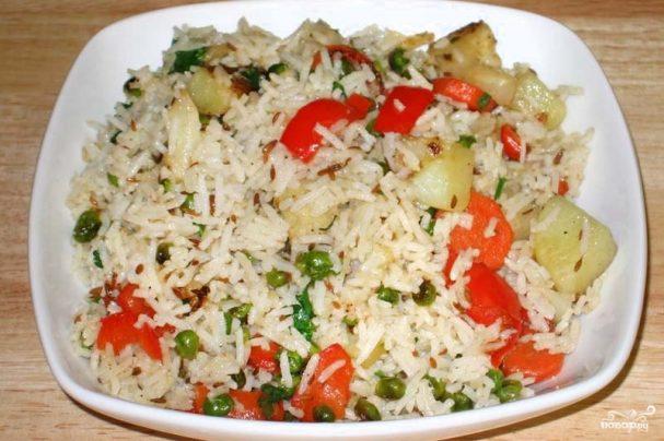 Рассыпчатый рис с овощами в мультиварке лучший рецепт — 3