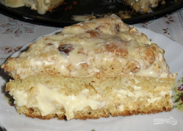 Легкий и вкусный тортик на кефире