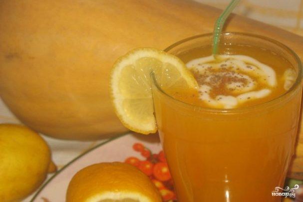 Сок из тыквы и яблок на зиму