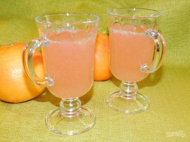 Напиток из грейпфрута с имбирем