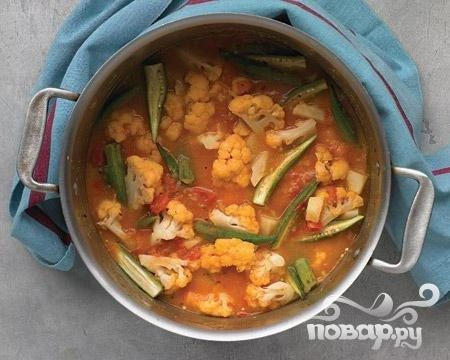 Овощи с рисом и специями