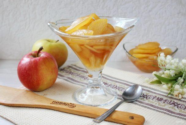 Карамельное варенье из яблок